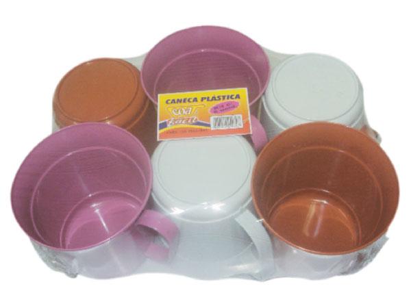 Caneca Plástica Kit com 6 unidades Coa Fácil - Ref.: 24