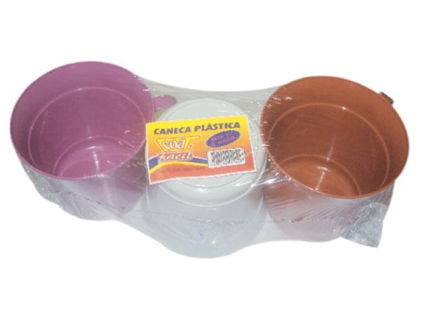 Caneca Plástica Kit com 3 unidades Coa Fácil - Ref.: 23